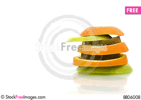 Fruit sliced Stock Photo