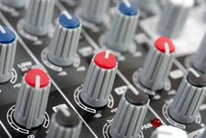 Free Audio Control Console Royalty Free Stock Image - 8800686
