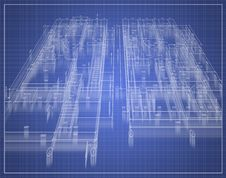 Free Building Plan In Motion Royalty Free Stock Image - 8800916