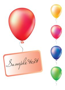 Free Set Of Balloons Royalty Free Stock Photography - 8801257