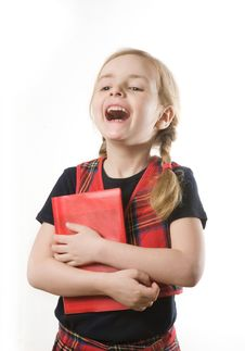 Free Happy Schoolgirl Stock Photo - 8801870