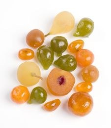 Free Coloured Candied Fruits Stock Photography - 8802492
