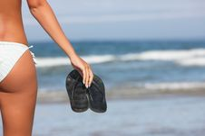 Free Woman Holding Black Flops Royalty Free Stock Photo - 8802965