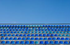 Free Empty Seat Rows Of Blue Stock Image - 8803821