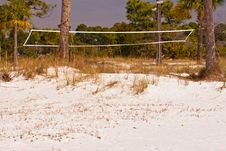 Free Old Volleyball Net On Beach Stock Photography - 8803852