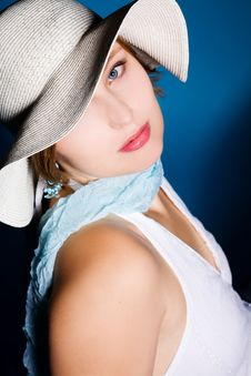 Free Portrai Of Sexy Woman Wearing A Hat Stock Photos - 8804543