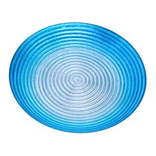 Blue Dish Isolated Royalty Free Stock Images
