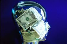 Free Head With Money Inside Royalty Free Stock Photos - 8807098