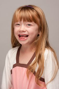 Portrait Of An Adorable Red Haired Girl Stock Photography
