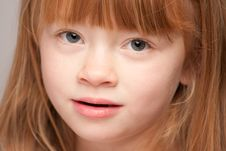 Portrait Of An Adorable Red Haired Girl Royalty Free Stock Photography