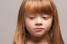 Portrait Of An Adorable Red Haired Girl Royalty Free Stock Photos