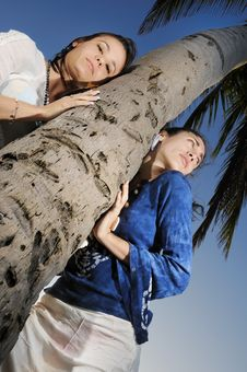 Free Two Girls On Vacation Stock Image - 8807761