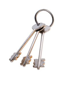 Free Bunch Of Keys Isolated On White Royalty Free Stock Photos - 8807768