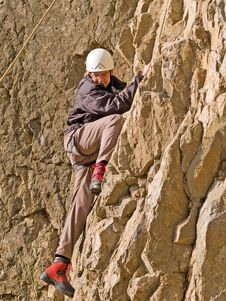 Free Climber On The Wall Stock Photos - 8807813