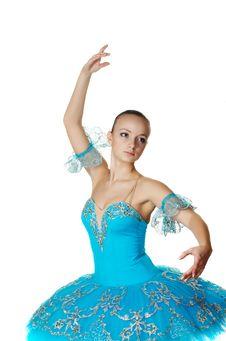 Free Young Beautiful Ballerina Dances Stock Image - 8808331