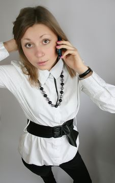 Free Woman Calling Royalty Free Stock Photos - 8808478