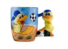 Free Creative Cup With Ducks Royalty Free Stock Photography - 8808907