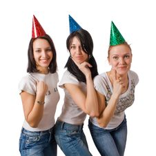 Free Funny Girls In Fool Caps Stock Photo - 8809310