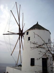 Free Greek Windmill Royalty Free Stock Photo - 8809495