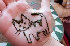 Free Henna Kitty Stock Photography - 88032372
