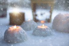 Free Snow Lanterns Royalty Free Stock Photo - 88037935