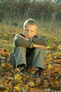 Free Little Boy In Autumn Royalty Free Stock Image - 8814726