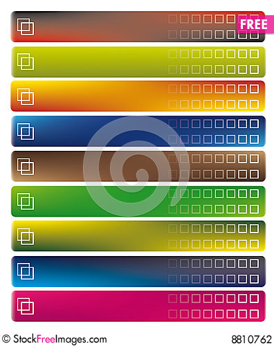 Free Modern Banners Stock Photography - 8810762