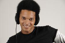 Free Man With Headphones Royalty Free Stock Photos - 8810188