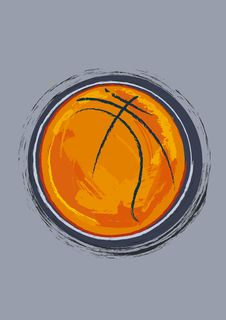 Free Basketball Ball Royalty Free Stock Photography - 8810647