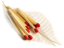 Free Close Up Of Matches On A Feather Stock Photography - 8810912