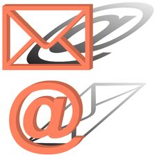 Free Sign Of A Mail Royalty Free Stock Photos - 8810938