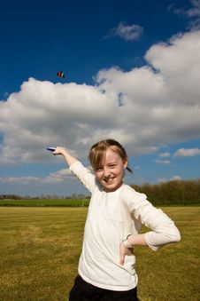 Pose With Kite Royalty Free Stock Images