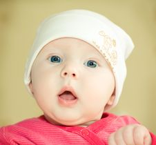 Free Baby In Hat Royalty Free Stock Photography - 8811967