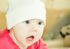 Free Baby In Hat Royalty Free Stock Photography - 8811997