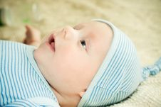 Free Baby In Hat Royalty Free Stock Image - 8812046