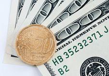 Free Dollar And Euro Royalty Free Stock Image - 8812296
