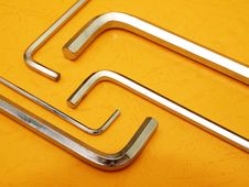 Free Hex Key Set On Orange Stock Photo - 8812460