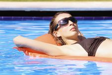 Free Relaxing In Swimming Pool Stock Photography - 8813222