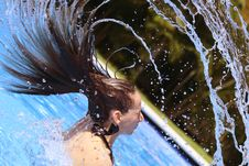 Free Water Sprays In The Pool Royalty Free Stock Photos - 8813248