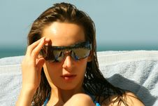 Free Woman In Sunglasses Stock Photos - 8813333