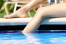 Free Legs In Swimming Pool Stock Photography - 8813352