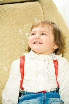 Free Girl In Bubbles Portrait Stock Image - 8814461