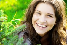 Free Beautiful Girl On The Grass In Sunny Day Stock Photos - 8815383