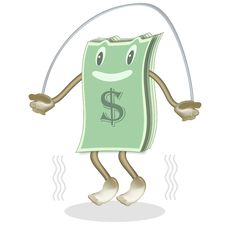Free Dollar Jumps Stock Image - 8815631