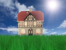 Free Nice House On Grass Stock Photos - 8815743
