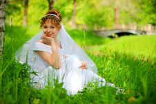 Free Lucky Bride On The Grass Stock Photos - 8816213