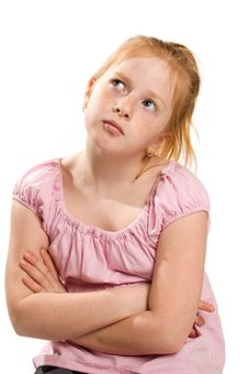 Free Portrait Of A Young Thinking Girl Royalty Free Stock Images - 8816689