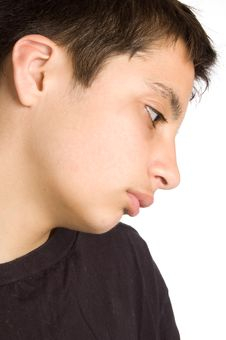 Free Portrait Of A Sad Looking Pakistan Teenage Boy Stock Image - 8816841