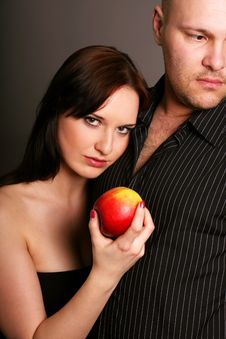Free Temptation With A Apple Stock Photos - 8817583