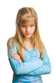 Free Resentment Of Young Girl Royalty Free Stock Photos - 8817668